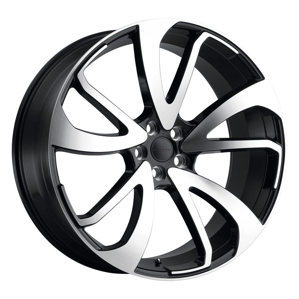 Redbourne Wheels Vincent - Gloss Black W/Mirror Cut Face Left Rim