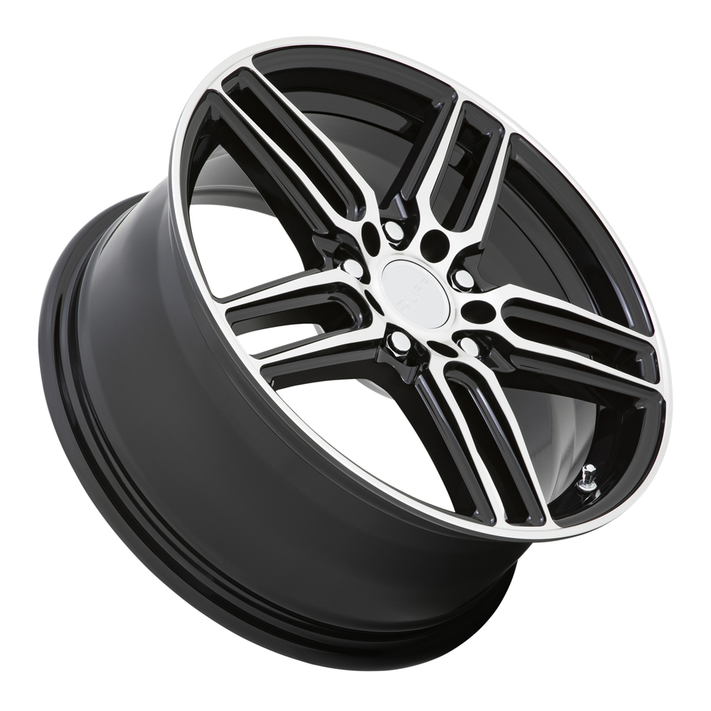 Ruff Wheels Nitro - Gloss Black with Machined Face Rim