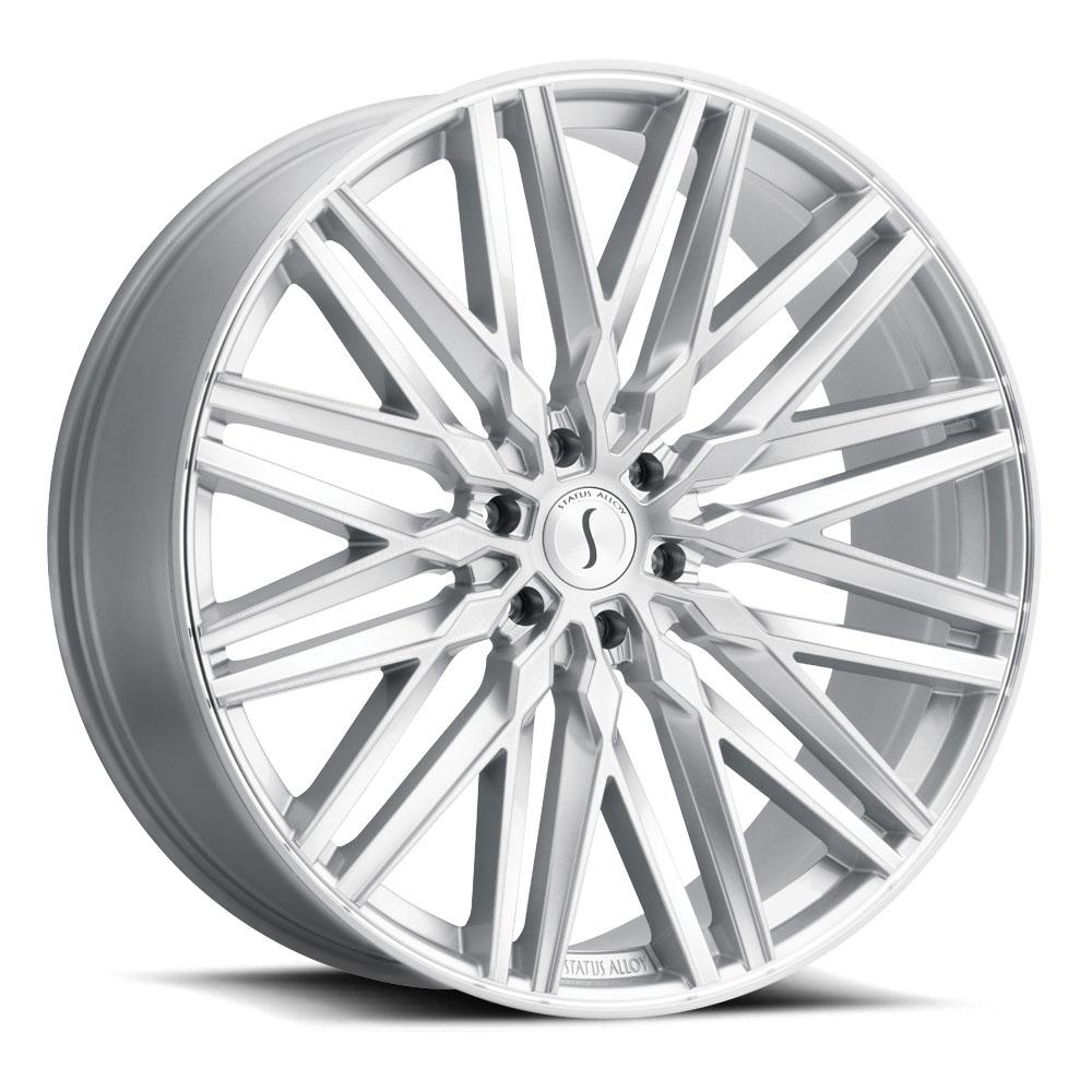 Status Wheels Adamas - Silver W/Mirror Face