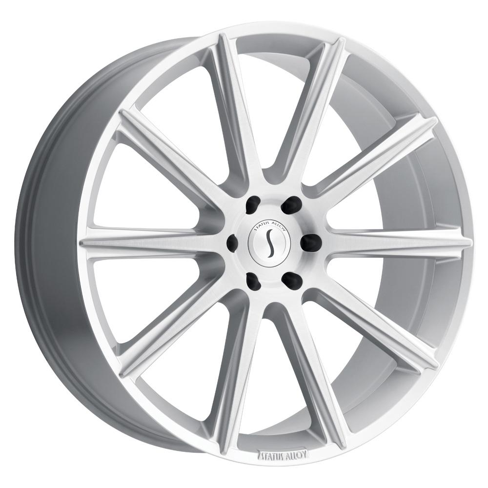 Status Wheels Zeus - Silver W/Brushed Face Rim