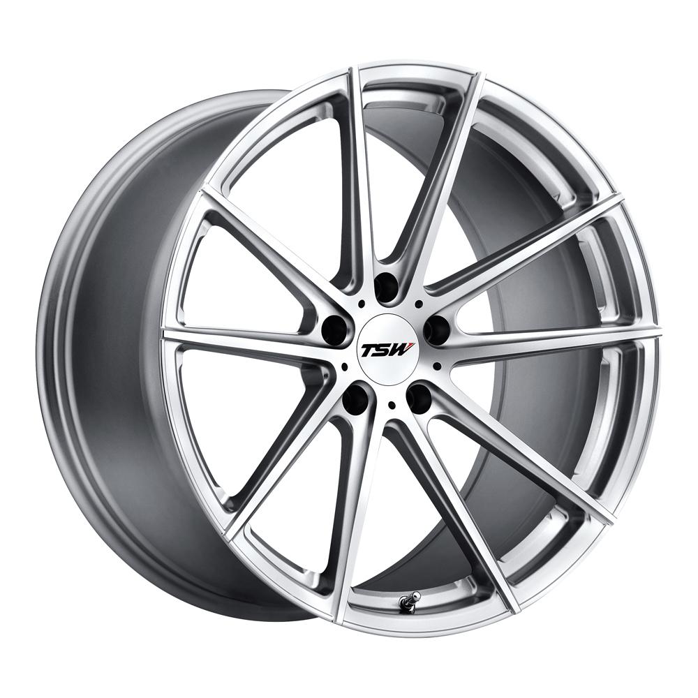TSW Wheels Bathurst - Silver W/Mirror Cut Face Rim