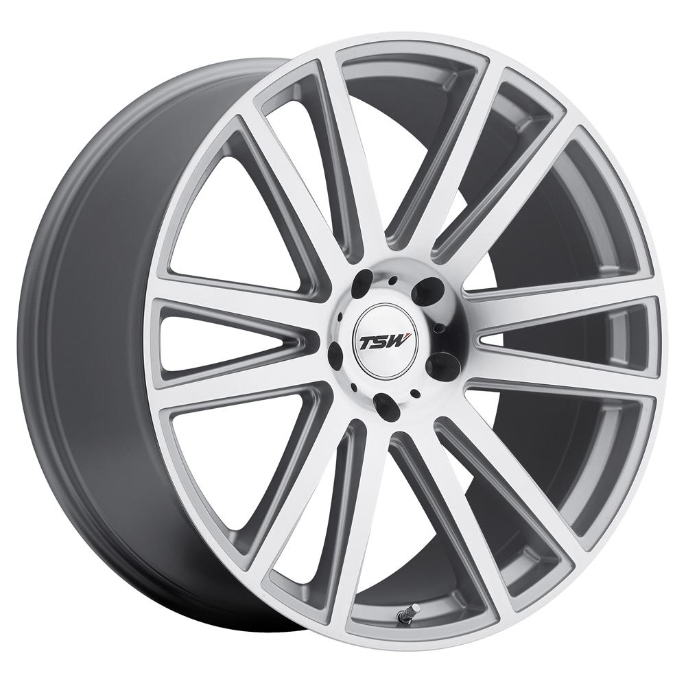 TSW Wheels Gatsby - Silver W/Mirror Cut Face Rim