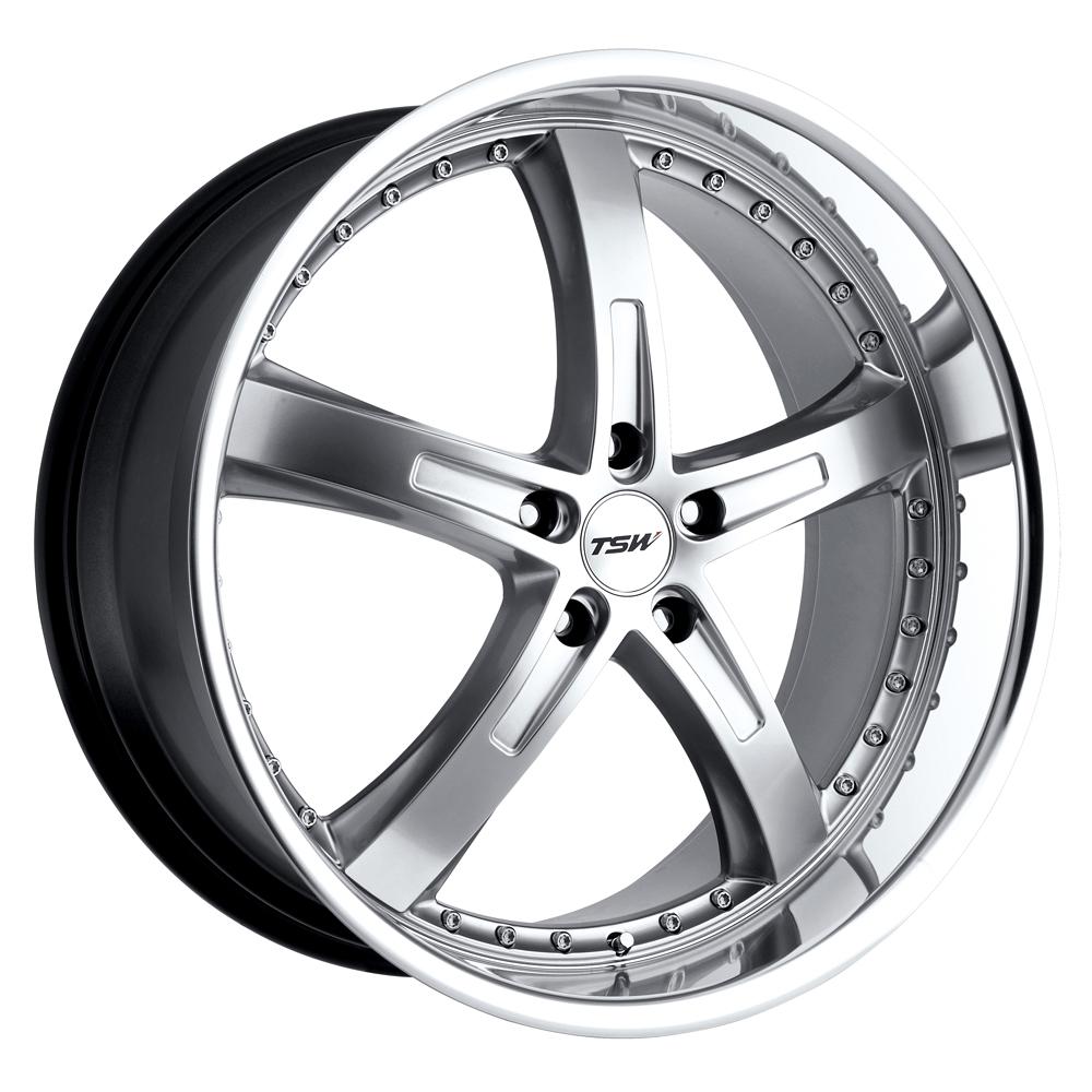 TSW Wheels Jarama - Hyper Silver W/Mirror Cut Lip Rim