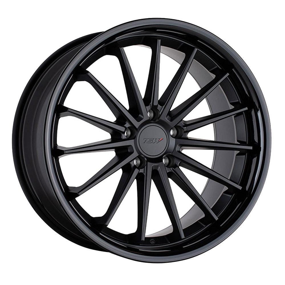 TSW Wheels Marina - Matte Black w/Gloss Black Lip Rim
