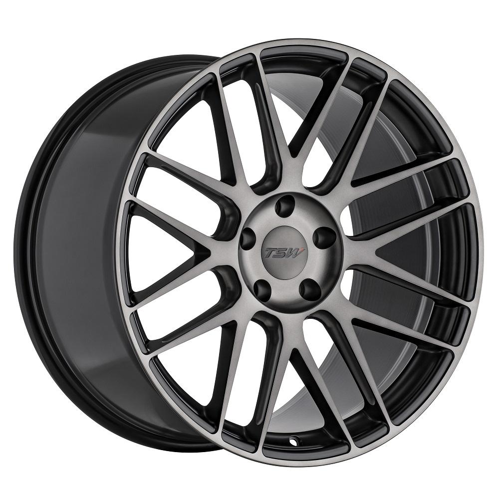 TSW Wheels Nord - Semi Gloss Black / Ball Milling / Machined Dark Tint Face RF Rim