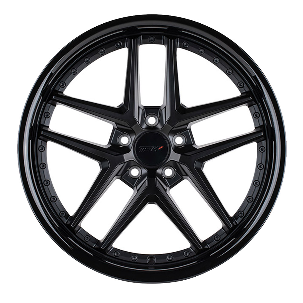 TSW Wheels Premio - Matte Black w/ Gloss Black Lip Rim