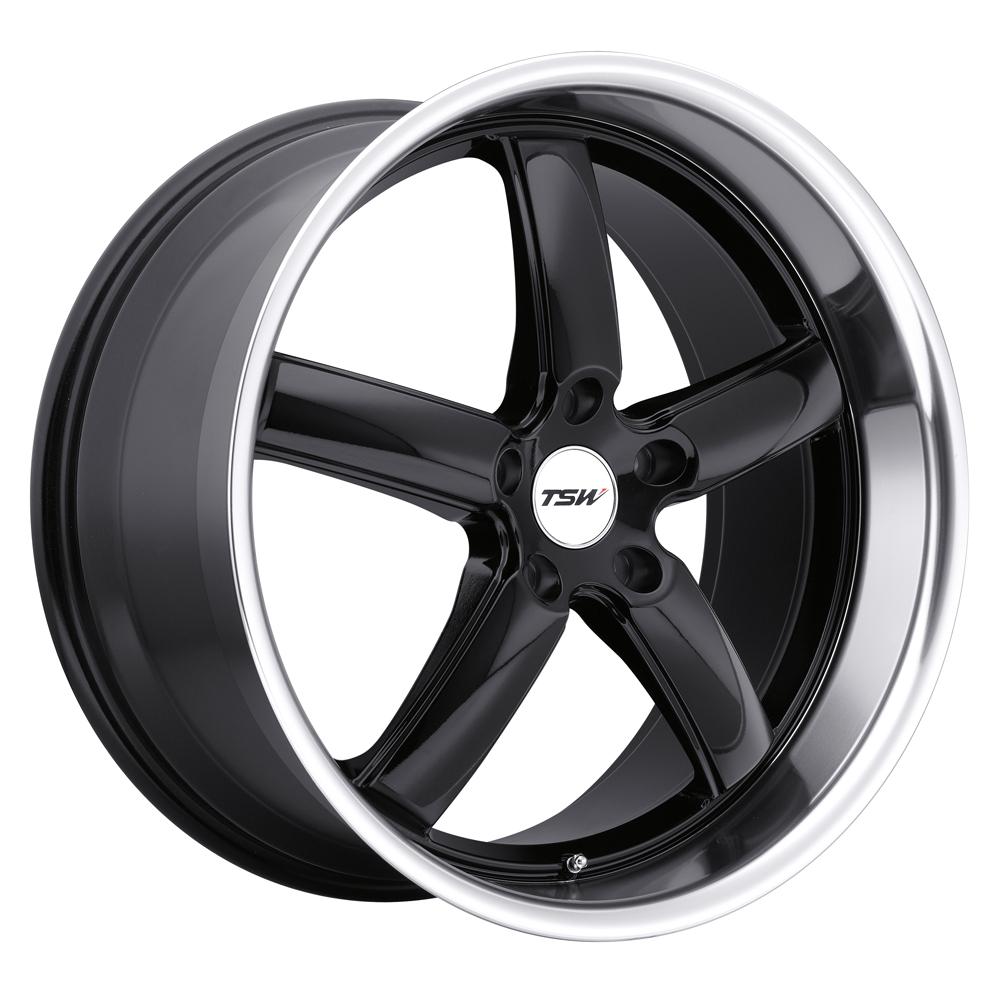 TSW Wheels Stowe - Gloss Black W/Mirror Cut Lip Rim
