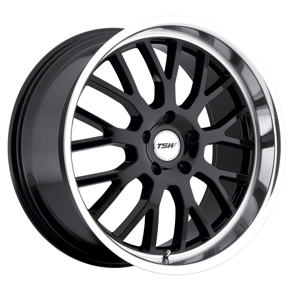 TSW Wheels Tremblant - Gloss Black W/Mirror Cut Lip