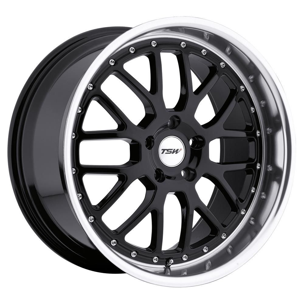 TSW Wheels Valencia - Gloss Black W/Mirror Cut Lip Rim