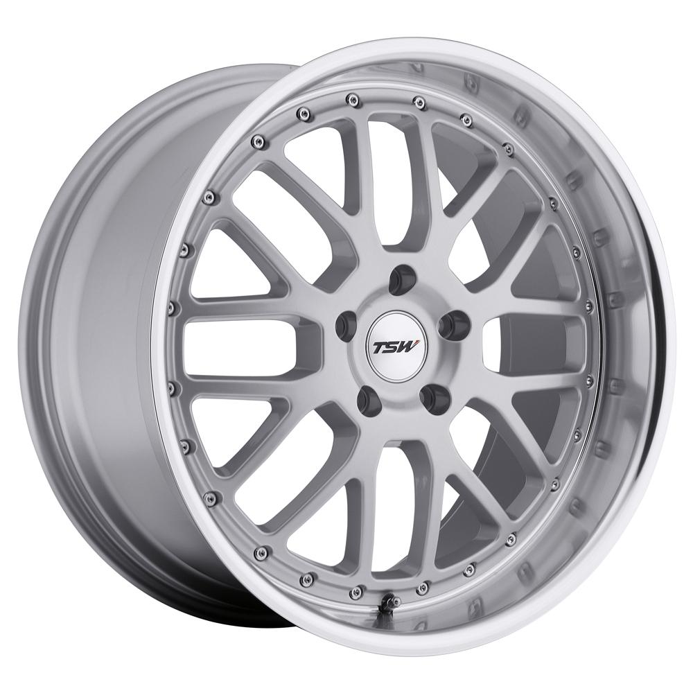 TSW Wheels Valencia - Silver W/Mirror Cut Lip Rim