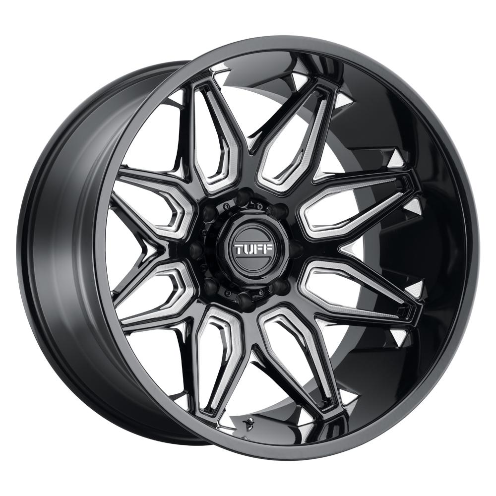 Tuff Wheels T3B - Gloss Black W/Milled Spoke Rim