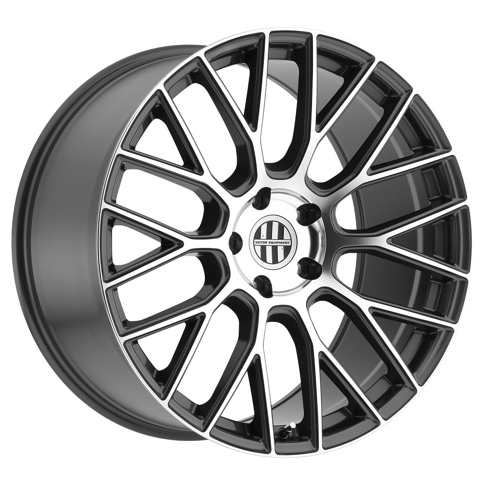 Victor Equipment Wheels Stabil - Gunmetal with Mirror Cut Face Rim