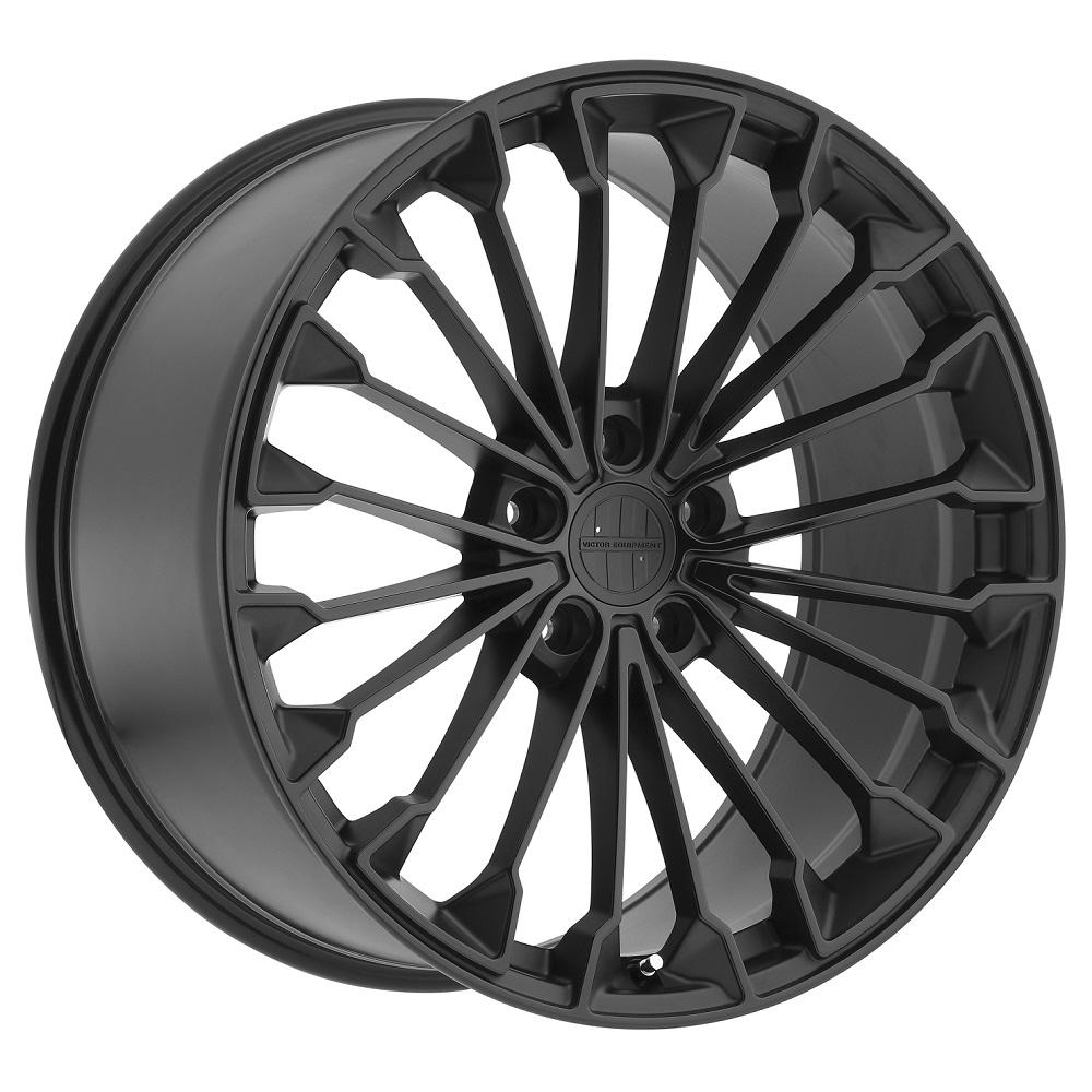 Victor Equipment Wheels Wurttemburg - Matte Black with Gloss Black Face Rim