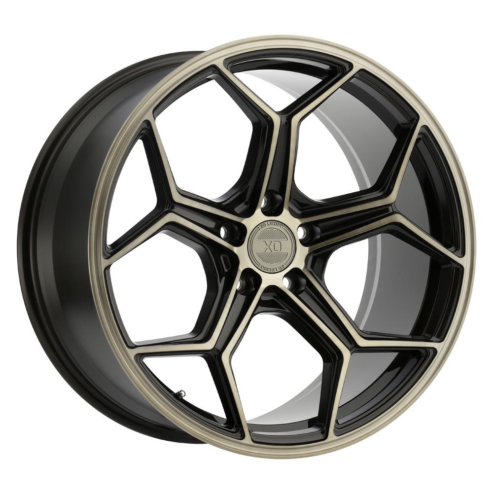 XO Luxury Wheels Helsinki - Dark Bronze w/Brushed Bronze Face Rim