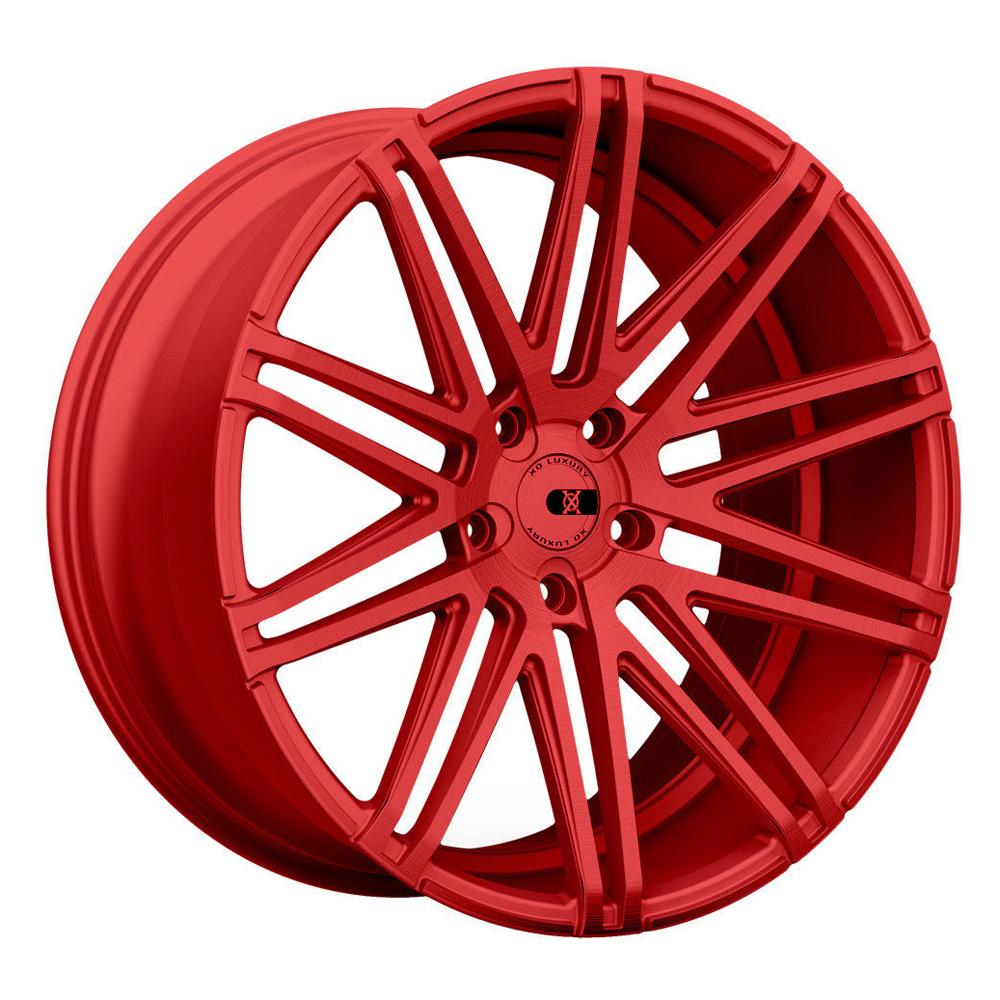 XO Luxury Wheels Milan - Candy Red Rim