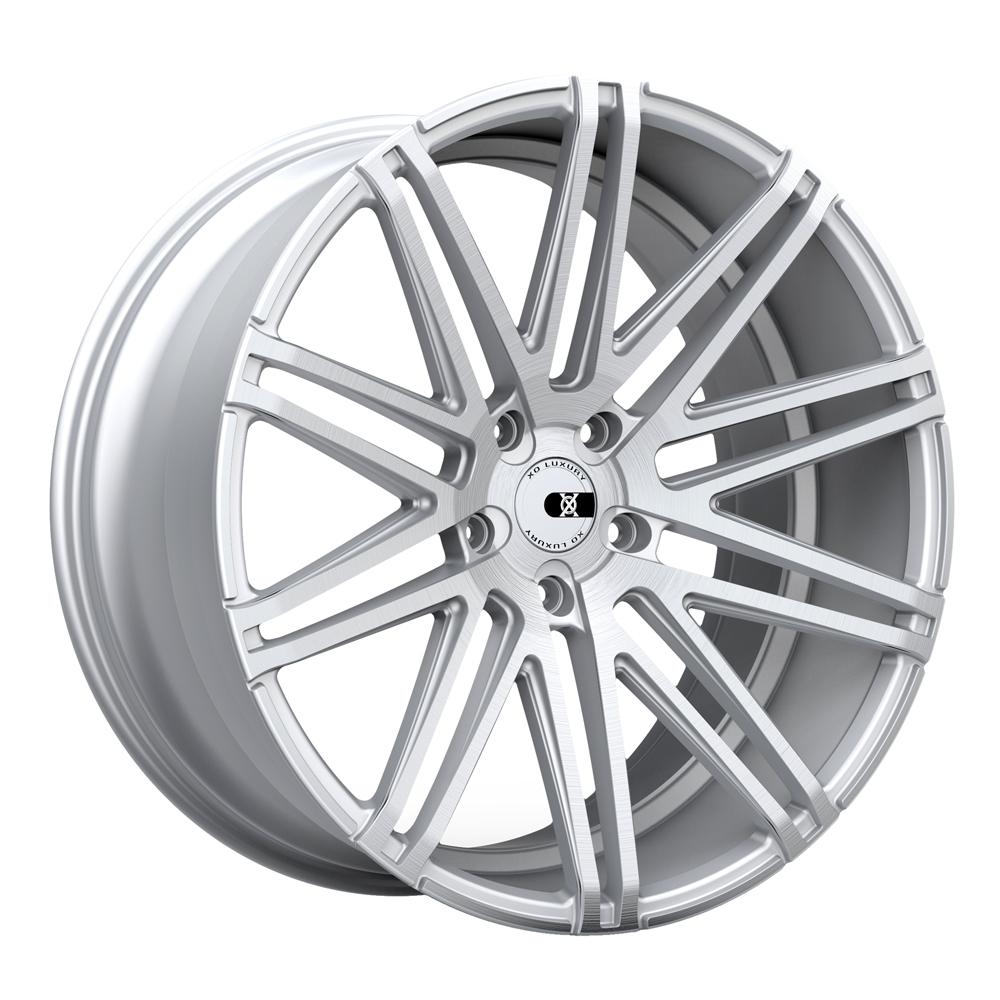XO Luxury Wheels Milan - Silver w/Brushed Face Rim