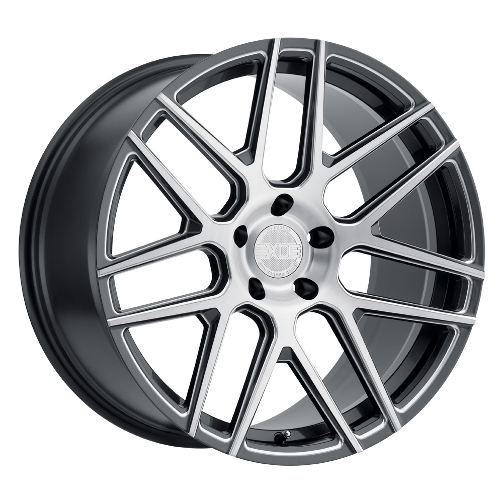 XO Luxury Wheels Moscow - Gloss Gunmetal w/Milled Spoke & Brushed Face Rim