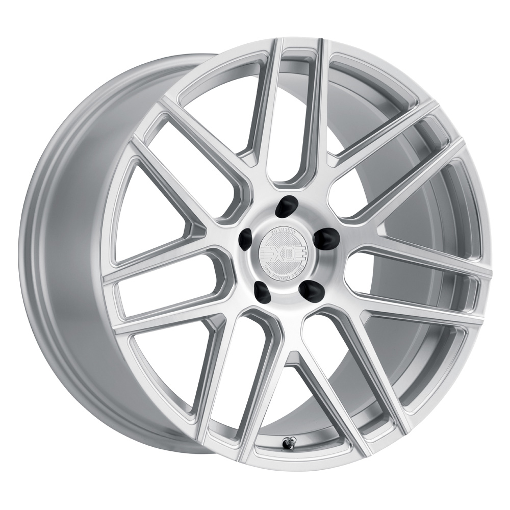 XO Luxury Wheels Moscow - Silver w/Milled Spoke & Brushed Face Rim