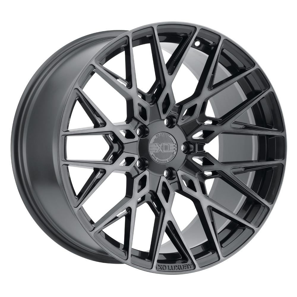 XO Luxury Wheels Phoenix - Gunmetal w/Brushed Gunmetal Face Rim