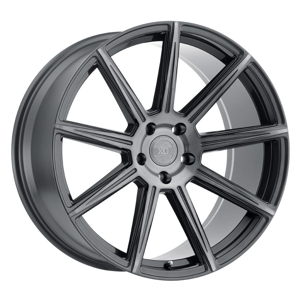 XO Luxury Wheels Vegas - Gunmetal w/Brushed Gunmetal Face Rim