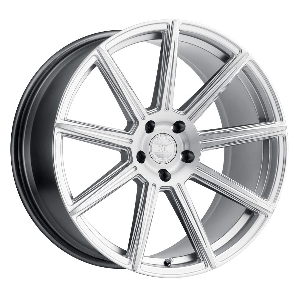 XO Luxury Wheels Vegas - Silver w/Brushed Silver Face Rim