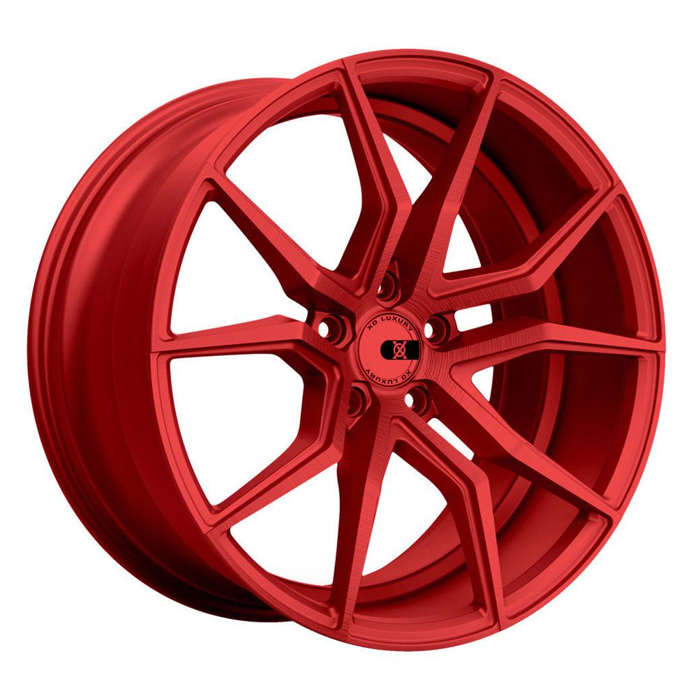 XO Luxury Wheels Verona - Candy Red Rim