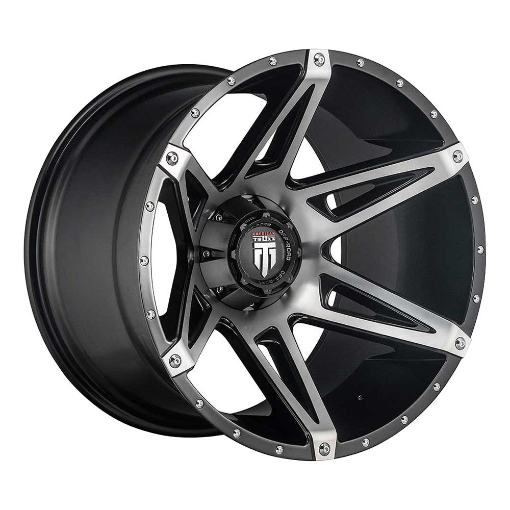 American Truxx Wheels AT1902 Kutz - Black/Machined Rim