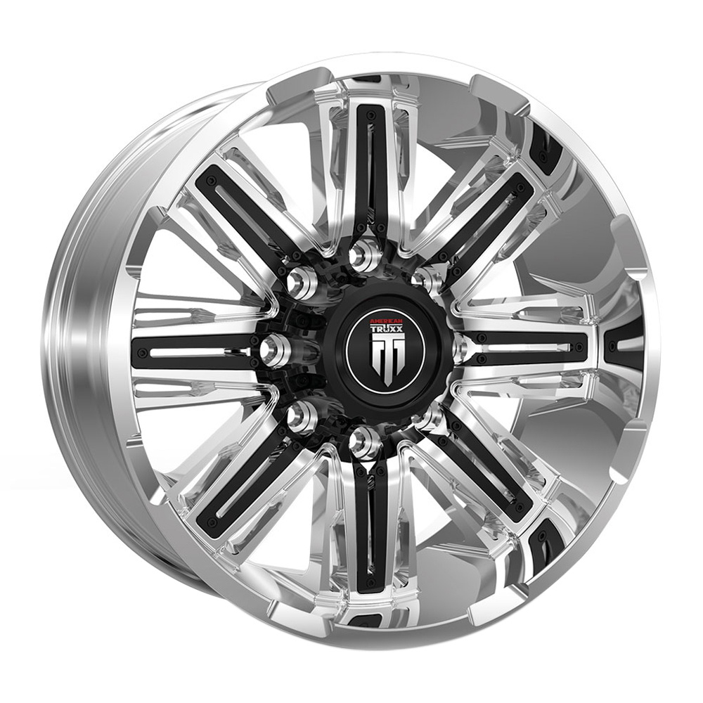 American Truxx Wheels AT152 Stacks - Chrome with Black Inserts Rim