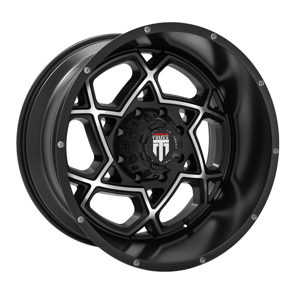 American Truxx Wheels AT164 Astro - Gloss Black with Machined Face Rim