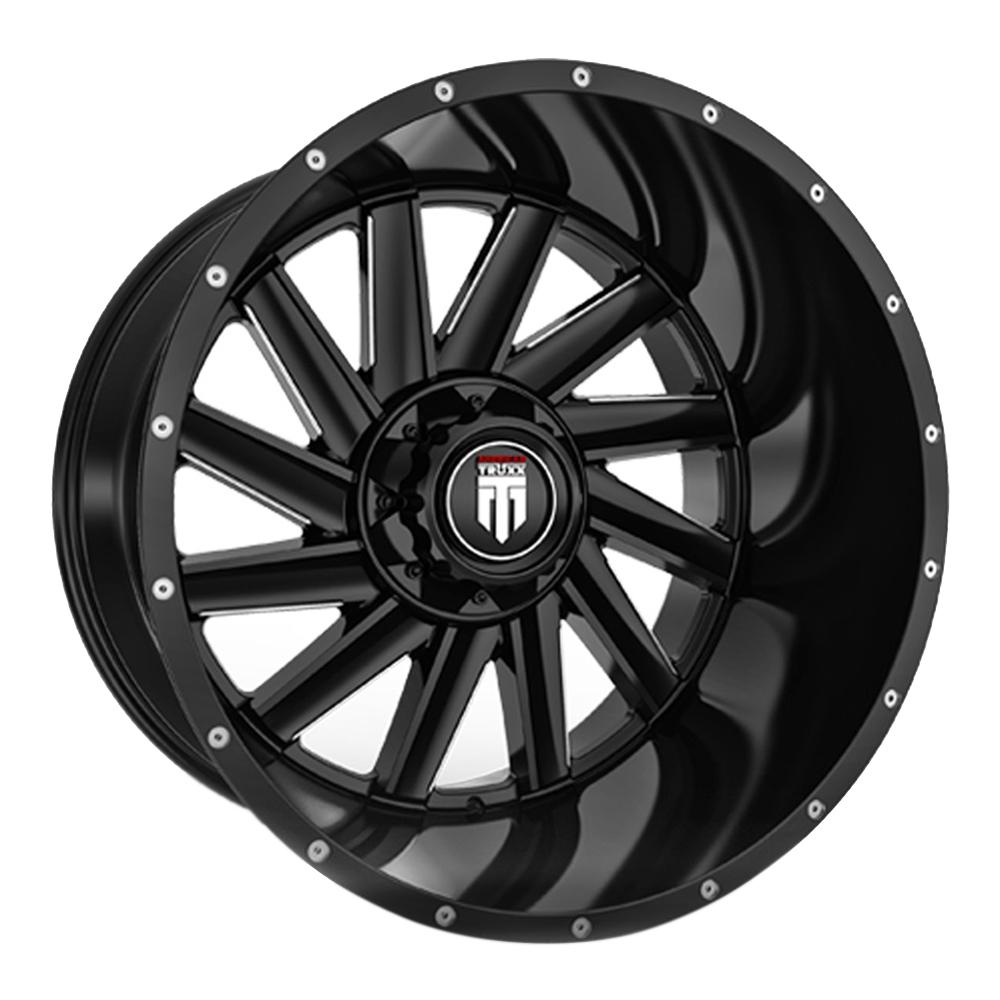 American Truxx Wheels AT166 Striker - Black / Mach Accents Rim
