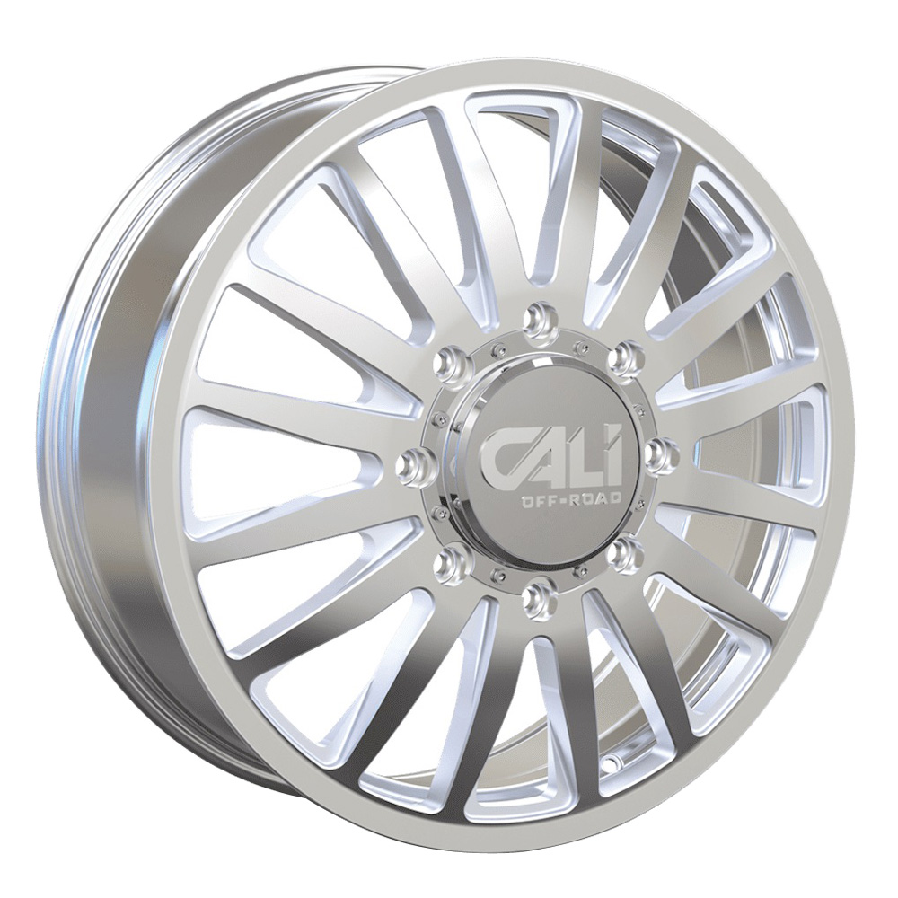 Cali Off-Road Wheels Summit Dually 9110D - Polished/Milled Spokes Rim