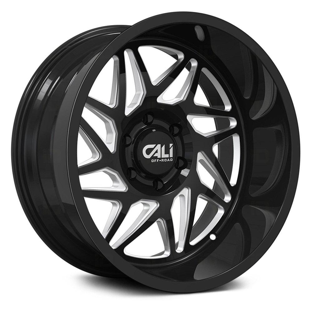 Cali Off-Road Wheels Gemini 9112 - Gloss Black/Milled Spokes Rim