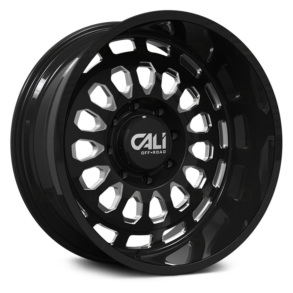 Cali Off-Road Wheels Paradox 9113 - Gloss Black/Milled Spokes Rim