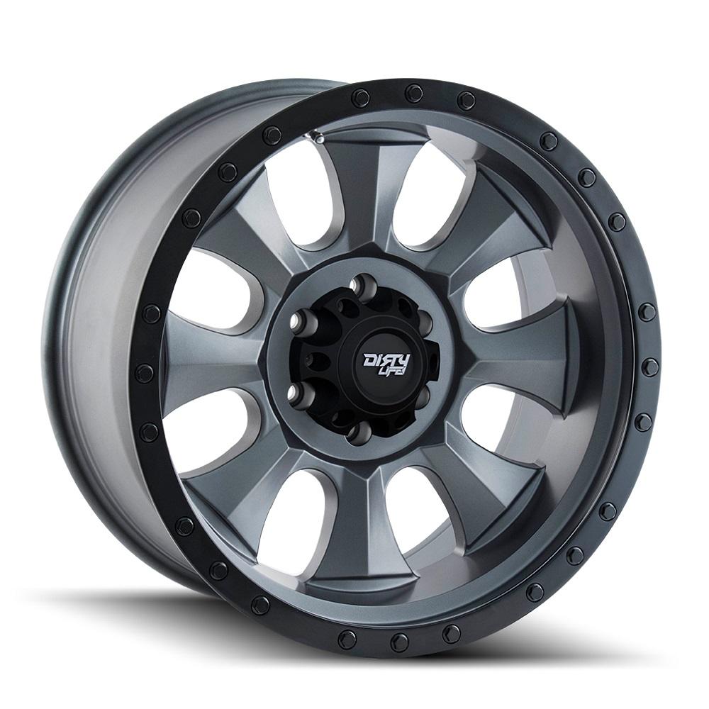 Dirty Life Wheels Ironman 9300 - Matte Gunmetal w/Matte Black Beadlock