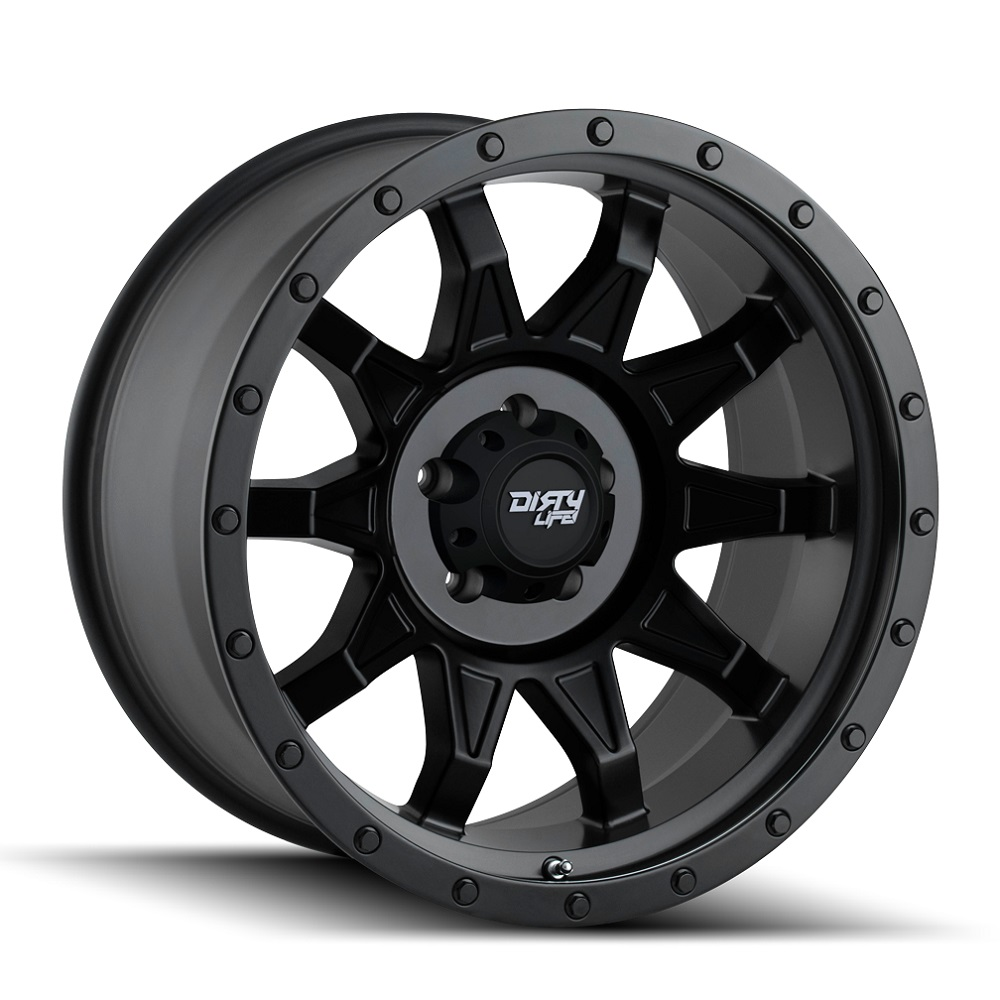 Dirty Life Wheels Roadkill 9301 - Matte Black wi/Black Beadlock