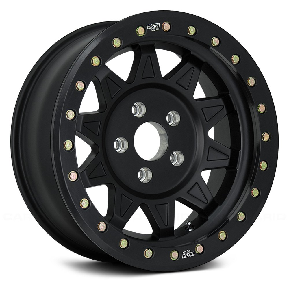 Dirty Life Wheels Roadkill 9302 Beadlock - Satin Black w/ Matte Black Beadlock