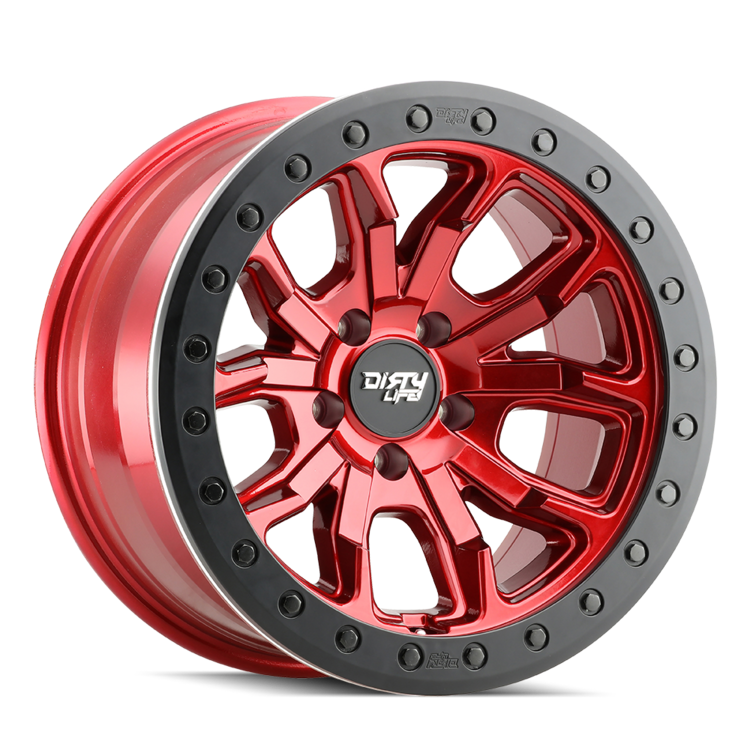 Dirty Life Wheels 9303 DT-1 - Red w/Black Ring Rim