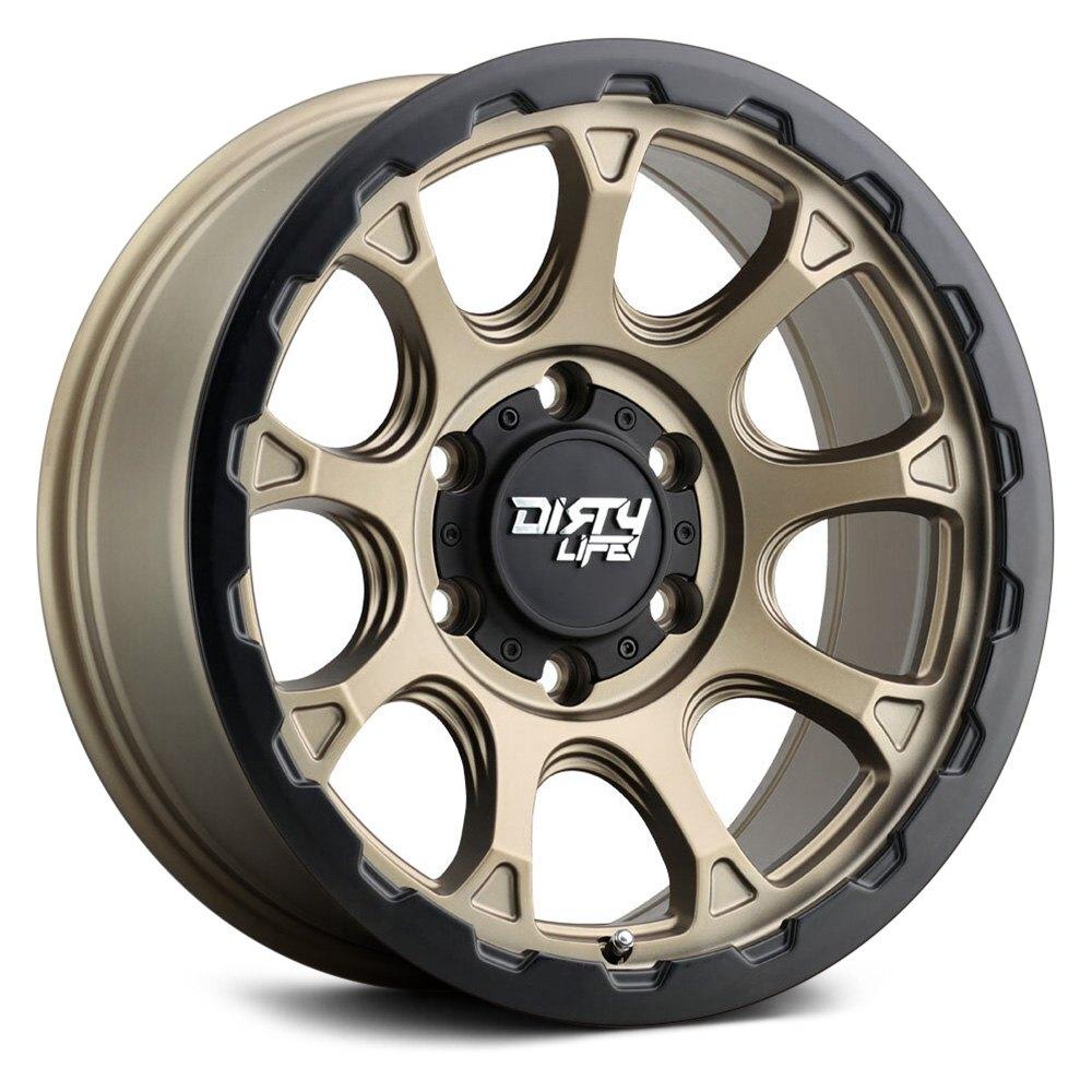 Dirty Life Wheels Drifter 9307 - Matte Gold W/ Matte Black Lip Rim