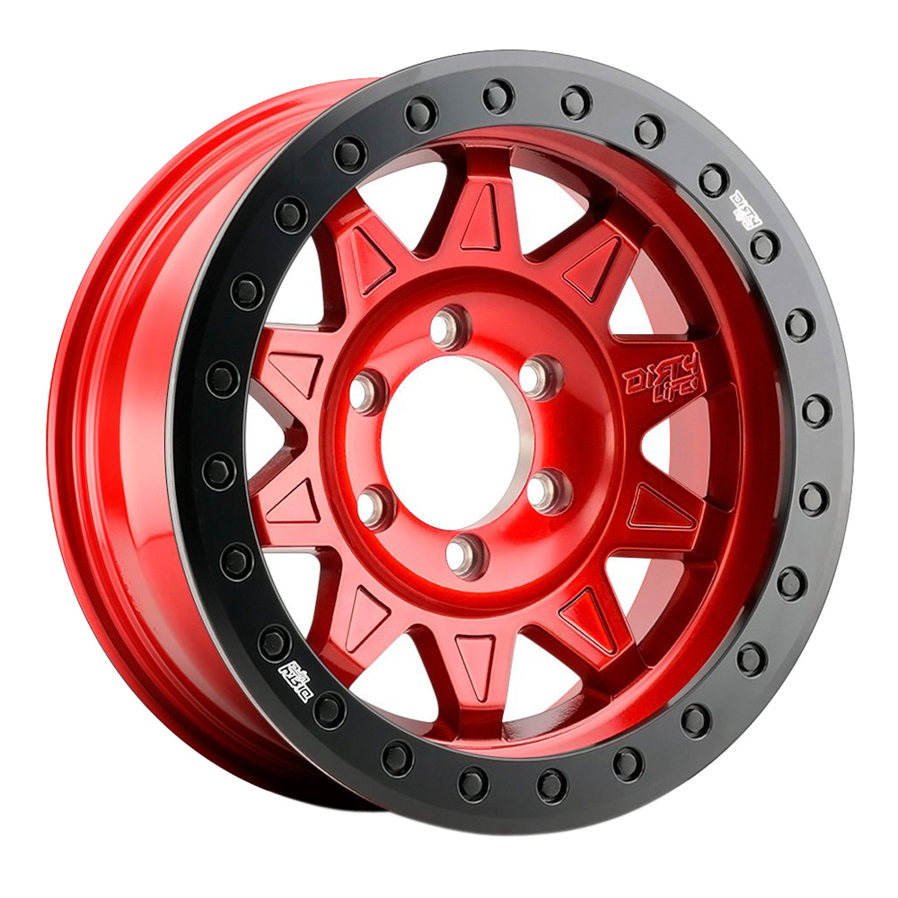 Dirty Life Wheels Roadkill 9302 Beadlock - Candy Red with Black Ring Rim