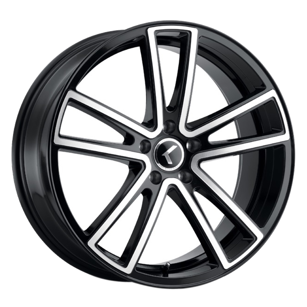 Kraze Wheels KR190 Lusso - Gloss Black with Machined Face Rim