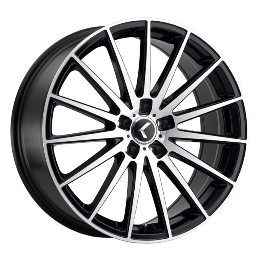 Kraze Wheels 191 Stunna - Gloss Black with Machined Face Rim