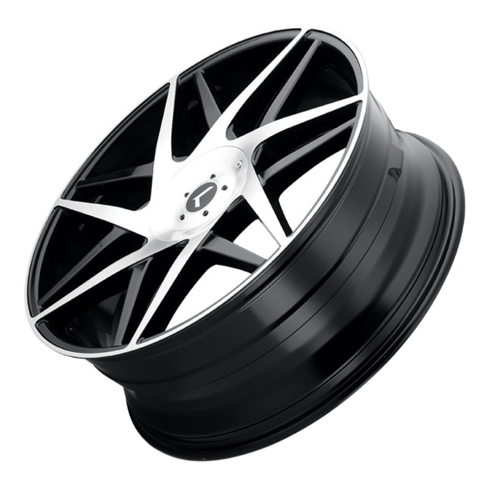 Kraze Wheels 192 Phase - Gloss Black with Machined Face Rim