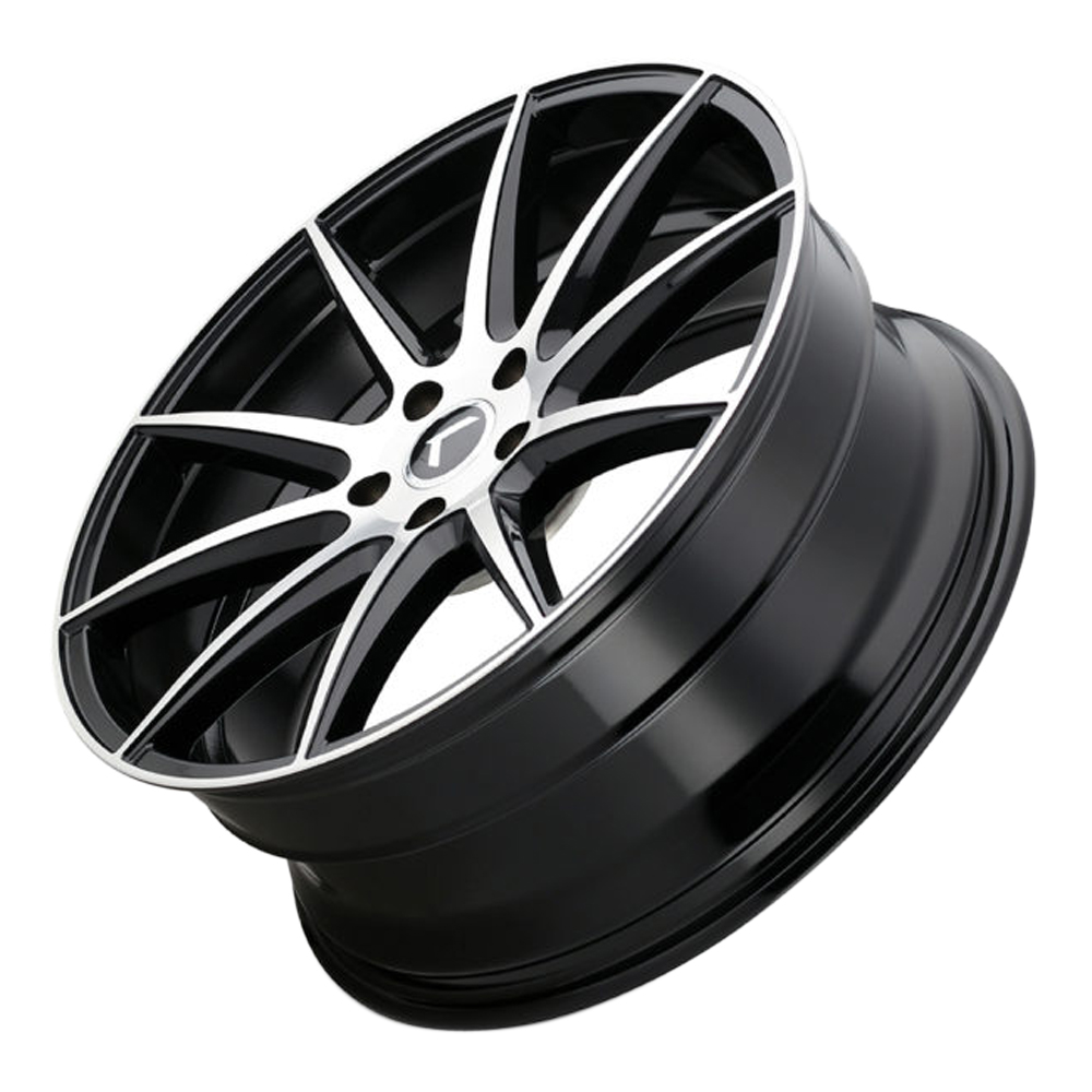 Kraze Wheels KR194 Cosmos - Gloss Black with Machined Face Rim