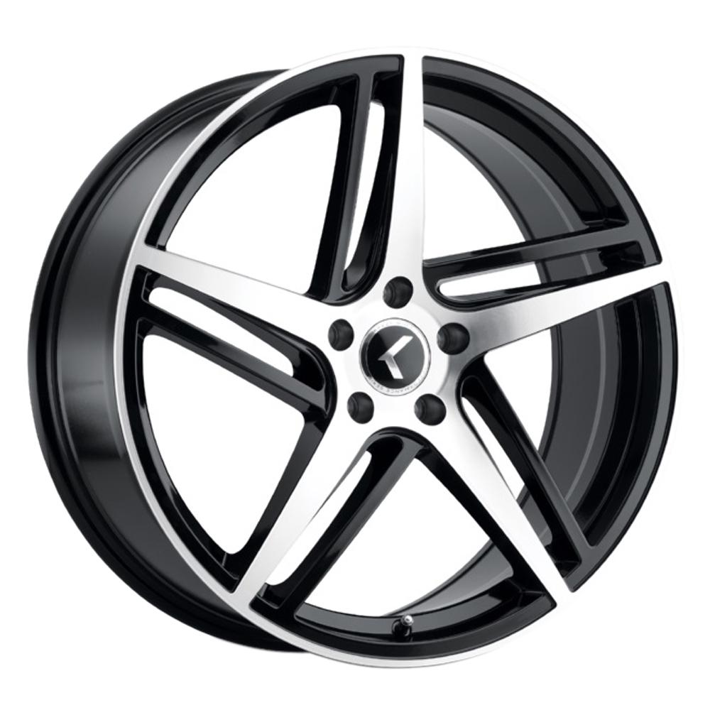 Kraze Wheels KR195 Milano - Gloss Black with Machined Face Rim