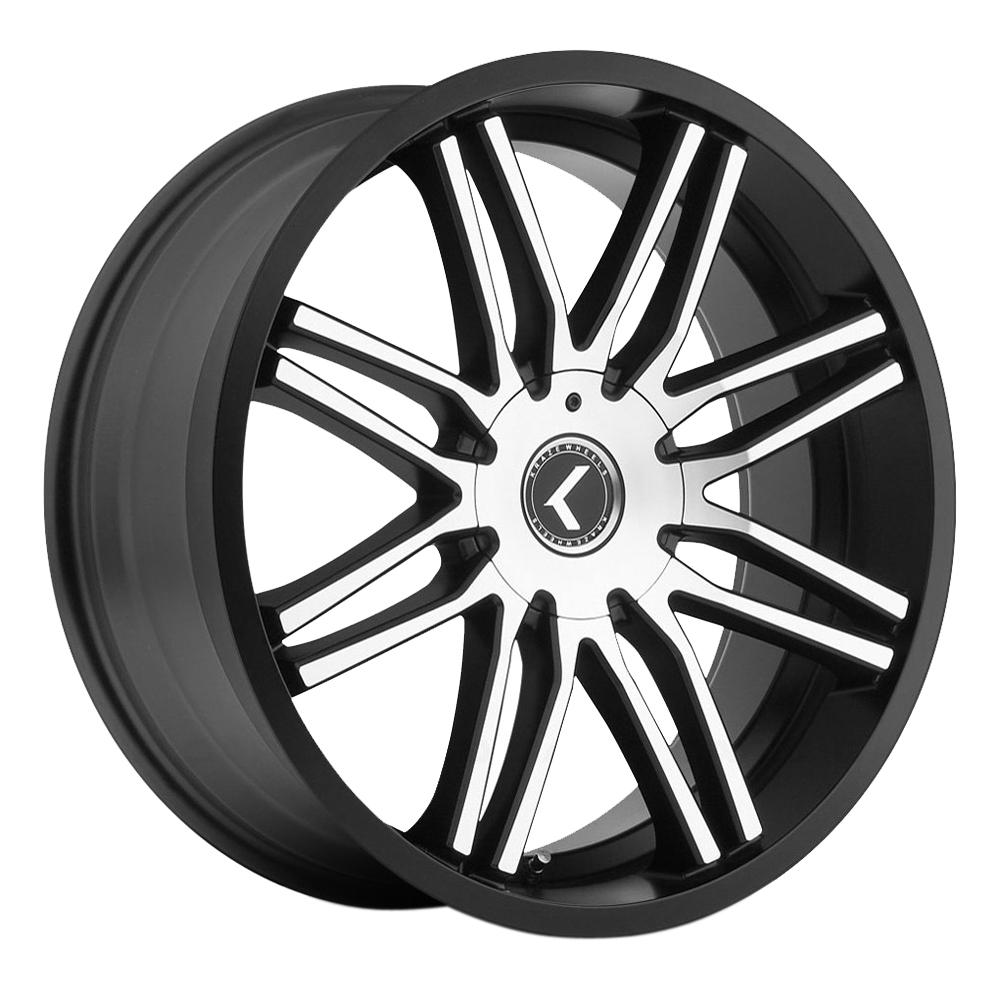 Kraze Wheels KR141 Cray - Black Machined Rim