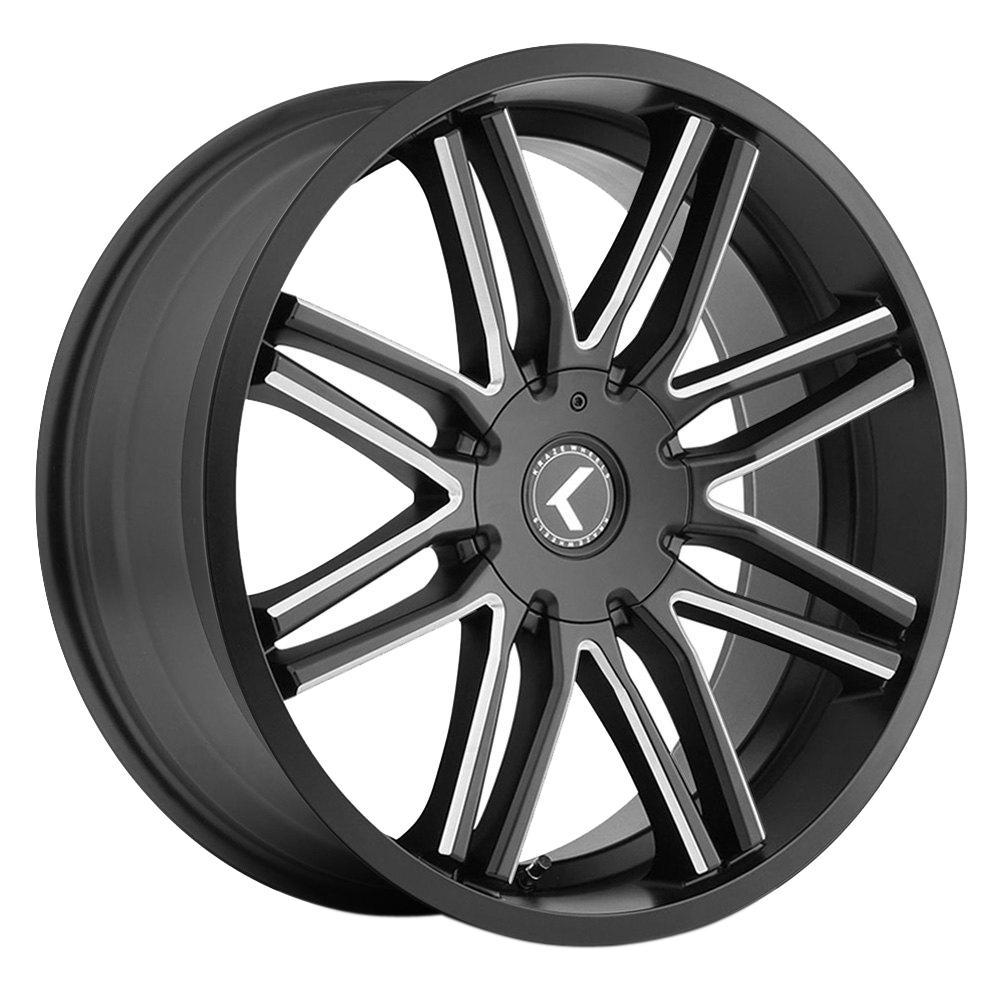 Kraze Wheels KR141 Cray - Gloss Black Milled Rim