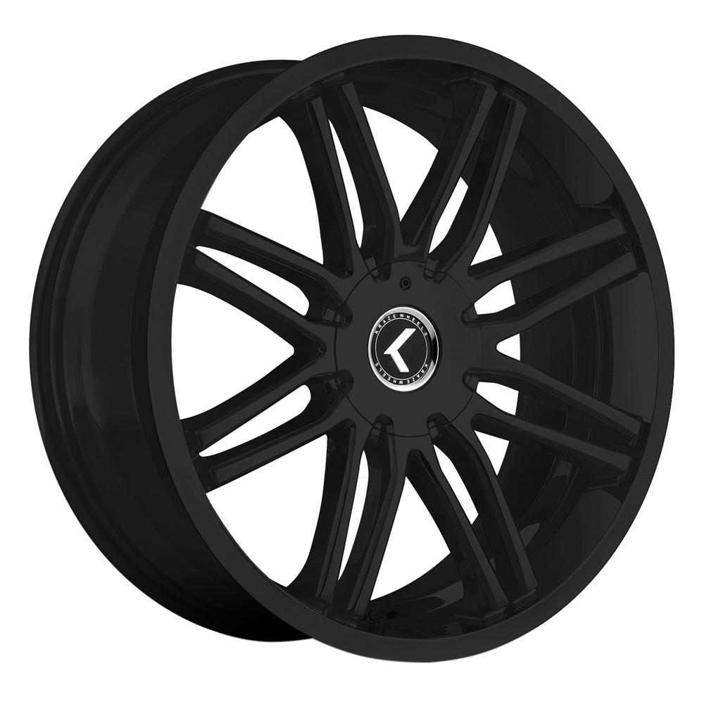 Kraze Wheels KR141 Cray - Satin Black Rim