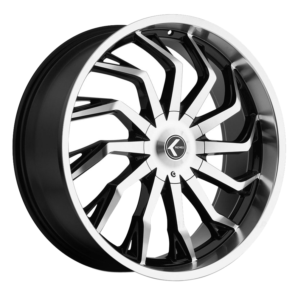 Kraze Wheels KR142 Scrilla - Black Machined Rim