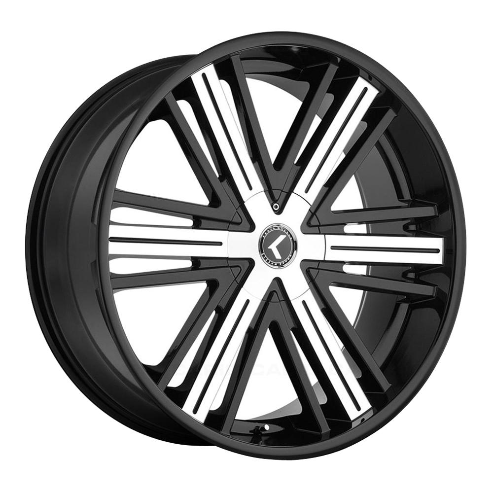 Kraze Wheels KR145 Hookah - Black with Machined Face Rim