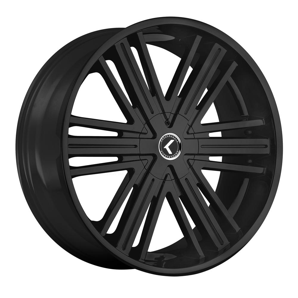 Kraze Wheels KR145 Hookah - Satin Black Rim